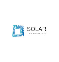 Square solar technology logo vector