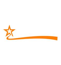 Star ribbon vector