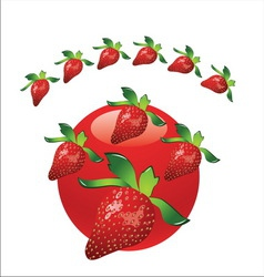 strawberry metal3 vector image
