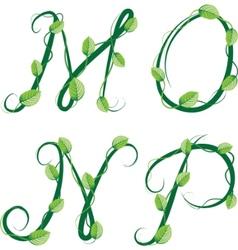 Summer alphabet vector