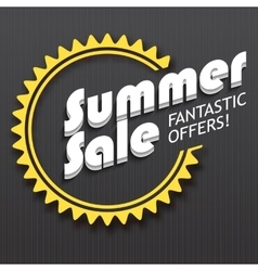 Summer sale advertisement vector image