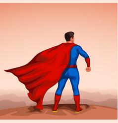 Super hero back vector