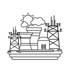 Sustainable energy icons vector