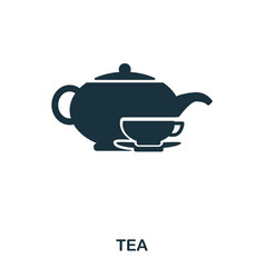 tea icon line style icon design ui vector image