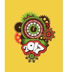 time clock mechanism vector image