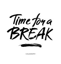 Time for a break for social media vector