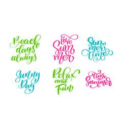 travel lifestyle motivational phrases set hand vector image