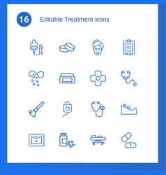 treatment icons vector image