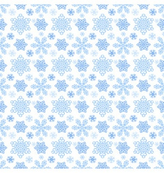Winter pattern with snowflakes vector image