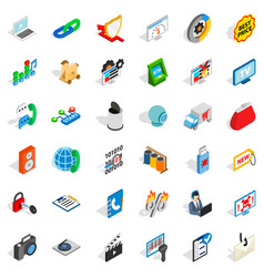 Www icons set isometric style vector