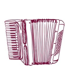 accordion vector image vector image
