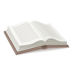 Book with open spread vector image vector image