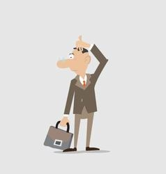 businessman is thinking about the issue vector image vector image