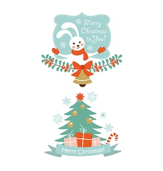 Christmas design elements vector image vector image
