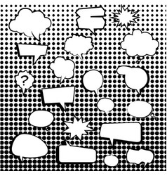 comic text boxes with elements and dot pattern vector image vector image