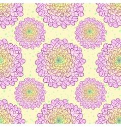 Dahlia seamless pattern vector image