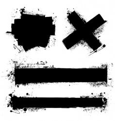 grunge splat element vector image