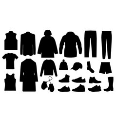 man clothes and accessories collection - fashion vector image vector image