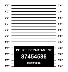 Police mugshot police lineup on white background vector