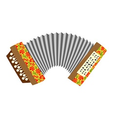 Accordion Musical instrument white background vector image vector image