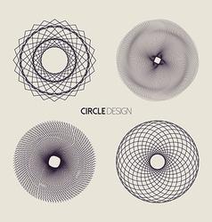 Line art circle set with sacred geometry design vector image