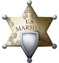 Marshals badge vector image