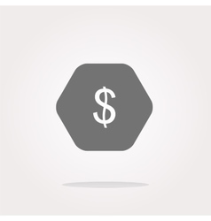 web icon cloud with dollars money sign vector image