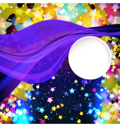 Bright colorful flying stars vector image