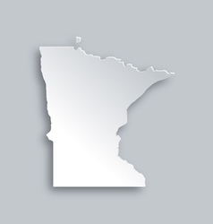 Map of Minnesota vector image