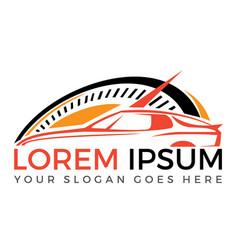 Modern sports car logo design vector