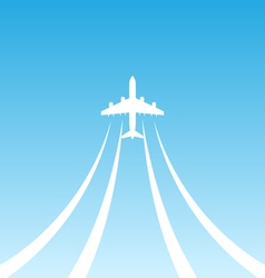Plane Takeoff White Icon vector image vector image