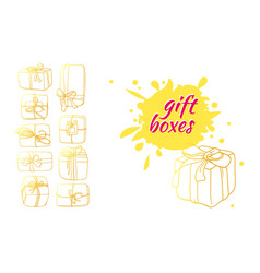 template box gift 3 vector image