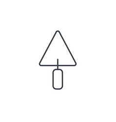 trowel tool thin line icon linear symbol vector image