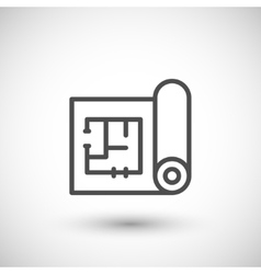 Architectural blueprint icon vector image
