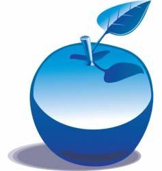 chromed apple vector image vector image