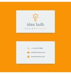 design studio business card template vector image
