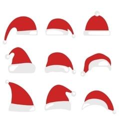 Santa Claus Christmas hat vector image