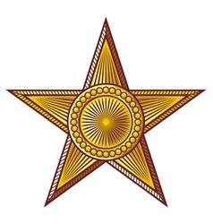 star - medal vector image