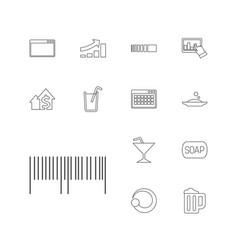 13 bar icons vector
