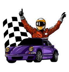 a a race car driver in vector image