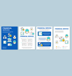 Accounting banking service template layout flyer vector