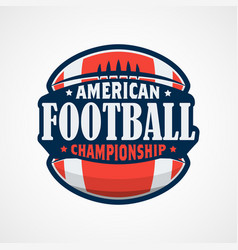 american football logo template design vector image