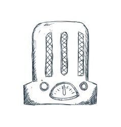 Antique radio draw vector