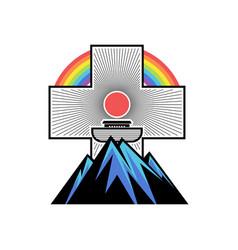 Ark on mountain vector