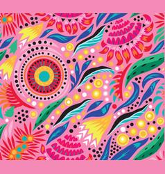 Australian tropical seamless pattern vector