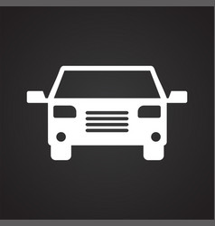 automobile icon on black background for graphic vector image