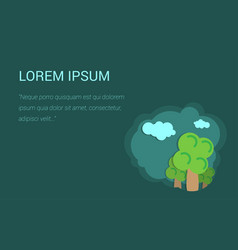 background for presentation trees and clouds vector image