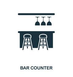 bar counter icon line style icon design ui vector image