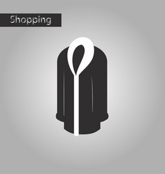 Black and white style icon fur coat vector