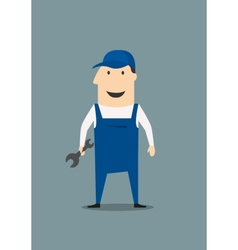 Cartoon mechanic or handy man vector image